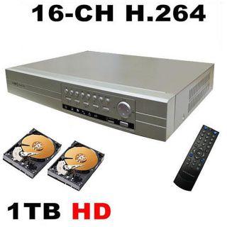 16 CH H.264 DVR 1TB HD Web ready Security System