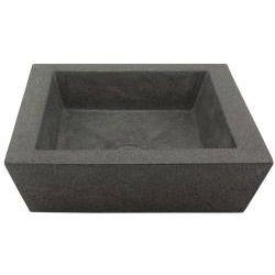 Square Incline Concrete Grey Vessel Bathroom Sink