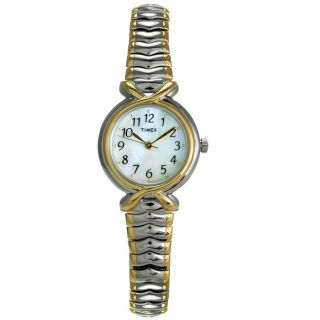 Timex Womens Stainless Steel Two tone Watch