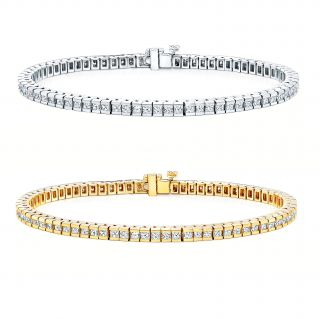 14k Gold 4ct TDW Diamond Tennis Bracelet (I J, I1 I2)