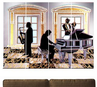 Jazz Piano Wall Mirror