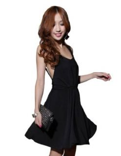 Sexy Club Cocktail Party Evening Dress #201 Black Size S M L: Clothing