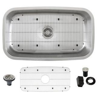Ticor Stainless Steel 16 gauge Undermount Kitchen Sink with Air Switch