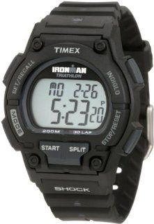 Timex Mens T5K196 Ironman Classic Shock 30 Lap Black Resin Strap