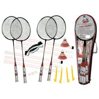 CDTS   Ensemble Badminton, comprenant 4 raquettes de badminton avec 2