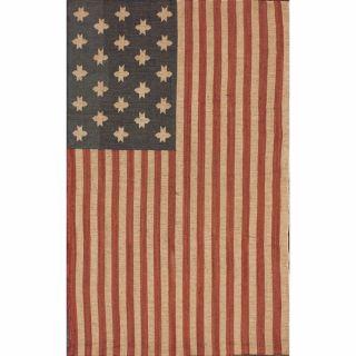 Handmade Flatweave American Flag Wool Rug (4 x 6)