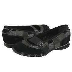 Skechers Dimple Black Suede/Leather(Size 5.5 M)