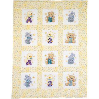 ABC 123 Quilt Blocks Stamped Cross Stitch  9X9 12/Pkg Today $11.19