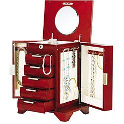 Seya Lock and Key Cherry Wood Jewelry Box