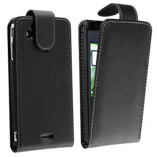 Black Leather Case/ Holster for Sony Ericsson Xperia Arc X12