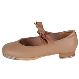 Little Girls Tan Grosgrain Ribbon Dance Tap Shoe 5.5 3 Danshuz Shoes