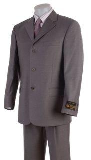 Stefano Genovese Mens Super 130 Loro Piana Grey Suit
