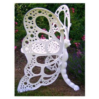Flower House FHBC205W Butterfly Chair, White Patio, Lawn