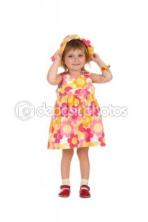 Cute little girl in summer dress  Stock Photo © Tetiana