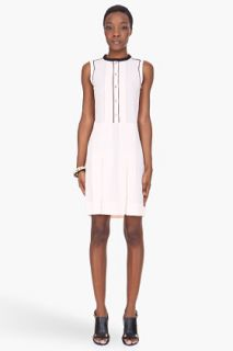 Marni Edition Pale Pink And Black Buttoned Dress for women