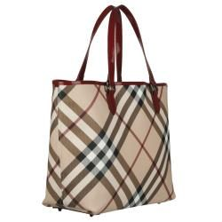 Burberry 3753178 Nova Check Large PVC Tote Bag