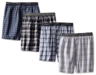 Hanes Mens 4 Pack Yarn Dye Woven Boxer Short Clothing