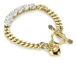 Juicy Couture Country Club Chic Gold Tennis Bracelet with