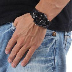Oakley Mens Judge II Black Stainless Steel Watch
