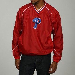 MLB Mens Philadelphia Phillies V Neck Pullover Jacket