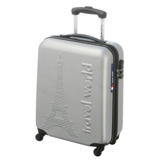 TRAVEL WORLD Valise trolley LOW COST PARIS Argent   Achat / Vente