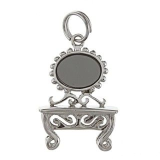 La Preciosa Sterling Silver Vanity Mirror and Table Charm