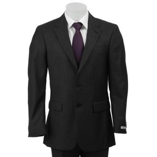 Kenneth Cole Slim Collection Mens Charcoal Wool/ Silk Blend Suit