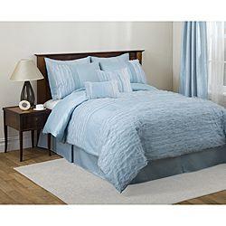 Lush Decor Lydia Blue/Brown 4 piece Comforter Set Today $94.99   $109