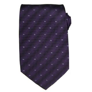Versace Mens Dot Greek Key Silk Tie