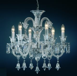 Karlin Clear Glass 6 light Chandelier