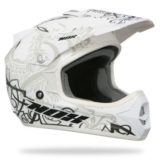 NOX Casque Moto Cross Enfant N724   Coloris Blanc brillant   Norme