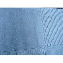 Indo Tufted Light Blue Rug (66 x 9)