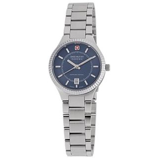 Swiss Military Womens Embassy Stainless Steel Blue Dial Watch