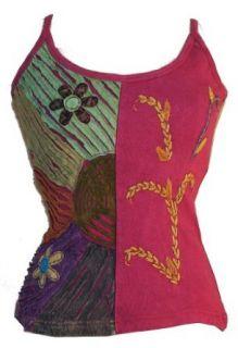 #204 Rib Cotton Funky Peace Symbol Tie Dye Yoga Tank Top