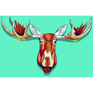 Maxwell Dickson Elk Head Canvas Wall Art