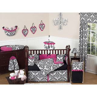 Sweet Jojo Designs Isabella Pink 9 piece Crib Bedding Set Today $229