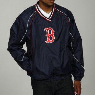 MLB Mens V Neck Red Sox Pullover