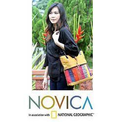 Cotton Natural Rhythm Medium Shoulder Bag (Thailand)