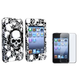 Skull Case/ LCD Protector for Apple iPod Touch Generation 2/ 3