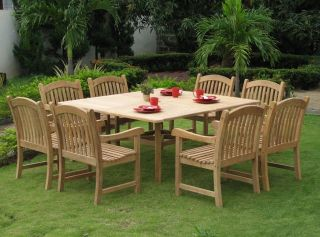 California Teak Wood Patio Dining Set