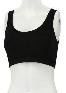 Large/X Large Black Cotton Sports Bra Clothing