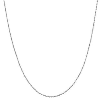 High polish 14 karat White gold 18 inch Cable Chain with Spring Ring