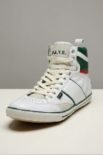 D.a.t.e . Sport High White/green Leather Sneakers for men