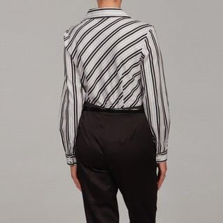 Katherine New York Black/ Grey/ White Stripe Top