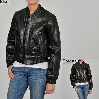 Knoles & Carter Womens Egyptian Varsity Leather Jacket