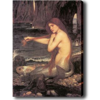 John William Waterhouse A Mermaid Giclee Canvas Art