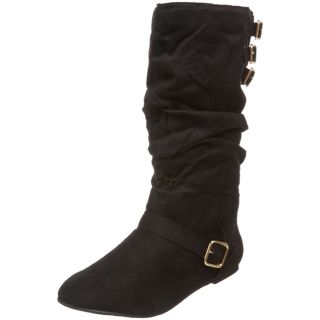 Fahrenheit Womens Izo 03 Faux Suede Slouch Boots