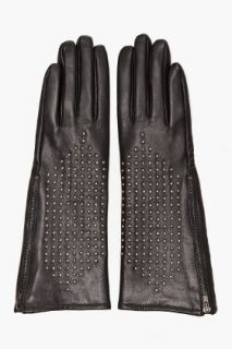 Juicy Couture Nailhead Leather Gloves for women
