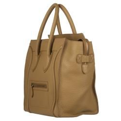 Celine Camel Leather Luggage Bag Tote