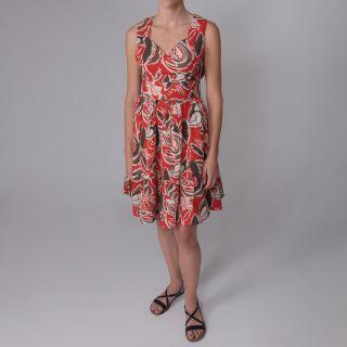 Journee Collection Womens Sweeheart Neckline Multi print Dress
